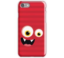 IPhone :: monster face laughing STRIPES - red iPhone Case/Skin