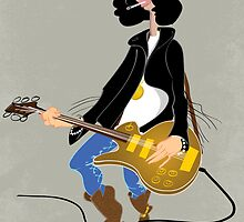 Cool rock guitarist by drawgood