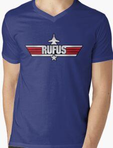 Custom Top Gun Style - Rufus Mens V-Neck T-Shirt