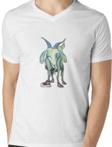Crazy Goat (cut out) Mens V-Neck T-Shirt