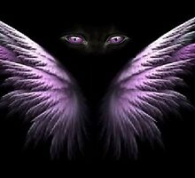 Purple Winged Cat Eyes by Inner Child Art