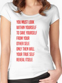 Zuko - Yourself Women's Fitted Scoop T-Shirt