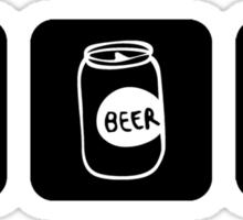Eat Drink Beer Rockhound Sticker