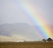 Old Barn Rainbow by Cathy L. Gregg