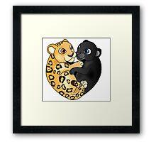 Leopard Panther Love Framed Print