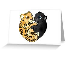 Leopard Panther Love Greeting Card
