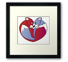 Fox love 1 Framed Print