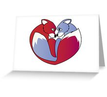 Fox love 1 Greeting Card