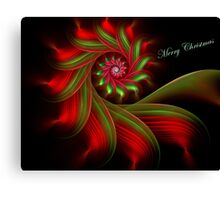 Christmas Ribbon Candy Greetings Canvas Print