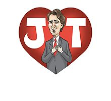I heart Justin Trudeau Photographic Print