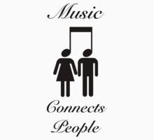 Music Connects People One Piece - Short Sleeve