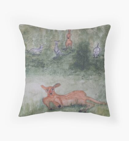 Kangaroos. Throw Pillow