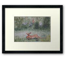 Kangaroos. Framed Print