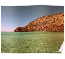 Sea of Cortez and Cliffs, Baja, Mexico Poster