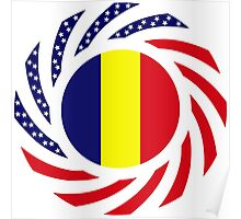Romanian American Multinational Patriot Flag Series Poster