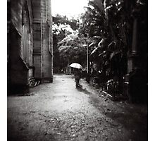 Rainy day in the cemetery Photographic Print