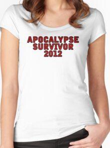 Apocalypse Survivor 2012  Women's Fitted Scoop T-Shirt