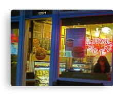 Hot Bagel on Fillmore Street Canvas Print