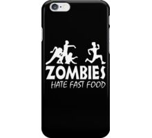 Zombie Hate Fast Food iPhone Case/Skin