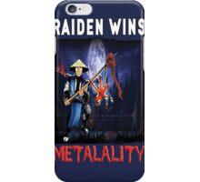 Raiden Wins Metalality (Iron Maiden Concept) iPhone Case/Skin