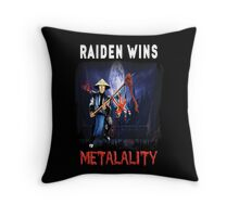 Raiden Wins Metalality (Iron Maiden) Throw Pillow