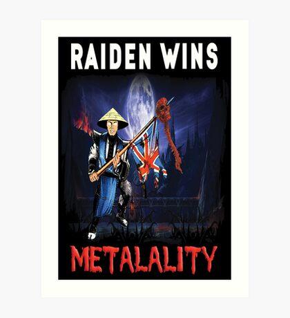 Raiden Wins Metalality (Iron Maiden) Art Print