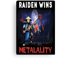 Raiden Wins Metalality (Iron Maiden) Canvas Print