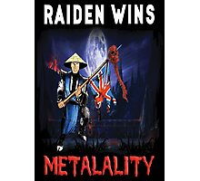 Raiden Wins Metalality (Iron Maiden) Photographic Print