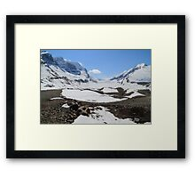 Shrinking glacier Framed Print