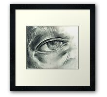 Eye Drawing Framed Print