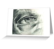 Eye Drawing Greeting Card