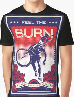 Feel the Burn retro cycling poster Graphic T-Shirt