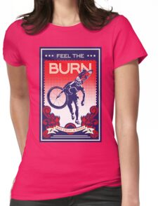 Feel the Burn retro cycling poster Womens Fitted T-Shirt