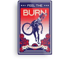 Feel the Burn retro cycling poster Metal Print