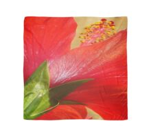Back View of A Beautiful Bright Red Hibiscus Flower Scarf