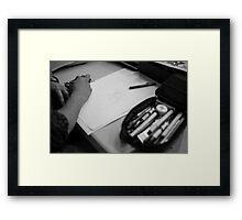 Sketchin' Framed Print