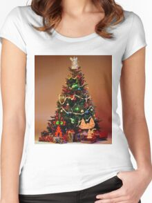 Two Cats Are Ready For Christmas Women's Fitted Scoop T-Shirt