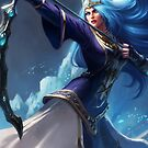 Queen Ashe League of Legends LoL by gleviosa