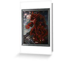 The Werewolf Thwlbr'x Greeting Card