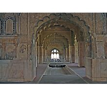 Delhi, Red Fort Arches Photographic Print