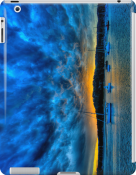 Blue Storm - Newport - The HDR Experience - IPAD Cover by Philip Johnson