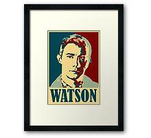 Sherlock Holmes Watson Framed Print