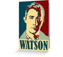 Sherlock Holmes Watson Greeting Card