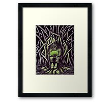 Glow of Life surreal pen ink and colored pencils drawing Framed Print
