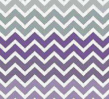 Purple Grey Fade Chevron Pattern by RexLambo