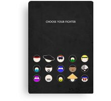 Choose Your Fighter - Minimal Poster Canvas Print