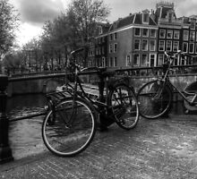 Amsterdam Bicycles by Ian Mooney
