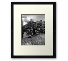 Amsterdam Bicycles Framed Print