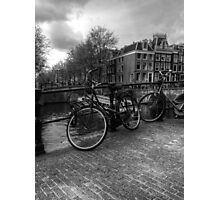 Amsterdam Bicycles Photographic Print