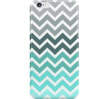 Tiffany Mint and Grey Fade Chevron Pattern iPhone Case/Skin